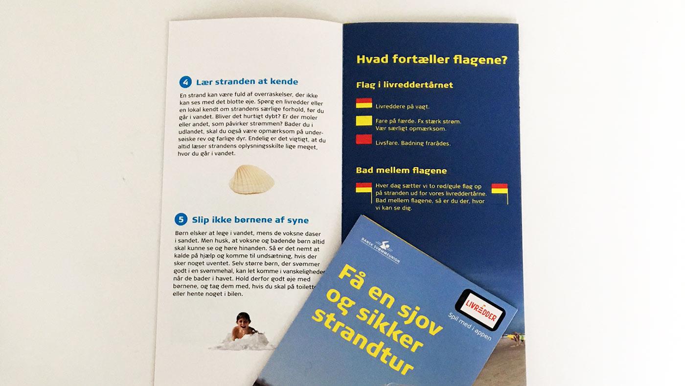 Baderådsfolder på dansk, tysk og engelsk