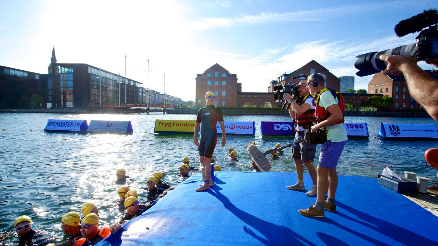 Der dukker flere og flere havnebade op rundt omkring i Danmark. TrygFondens Christiansborg Rundt foregår også i Københavns Havn.