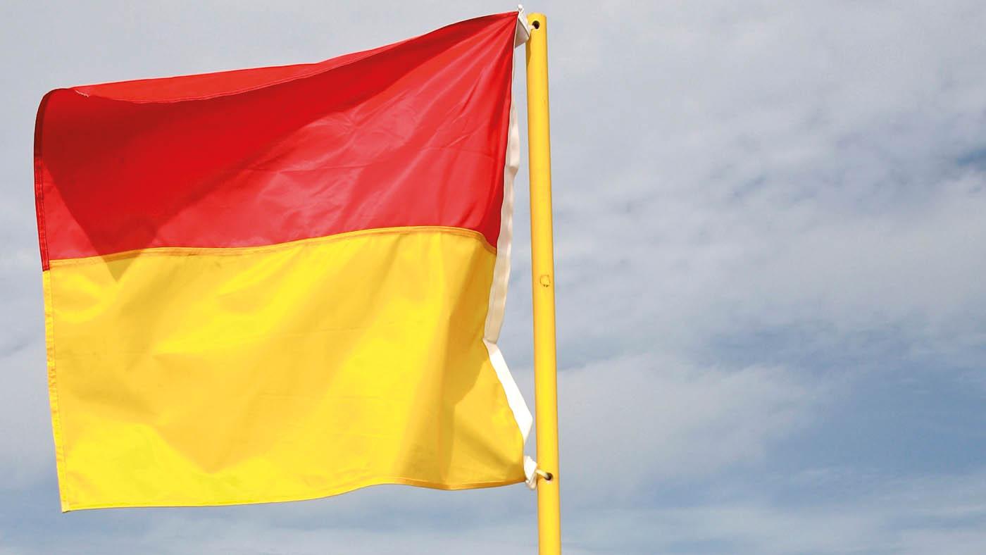 Flag på stranden